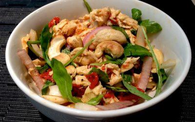 El Gourmet Saludable: Ensalada picnic de pollo, pimientos y anacardos